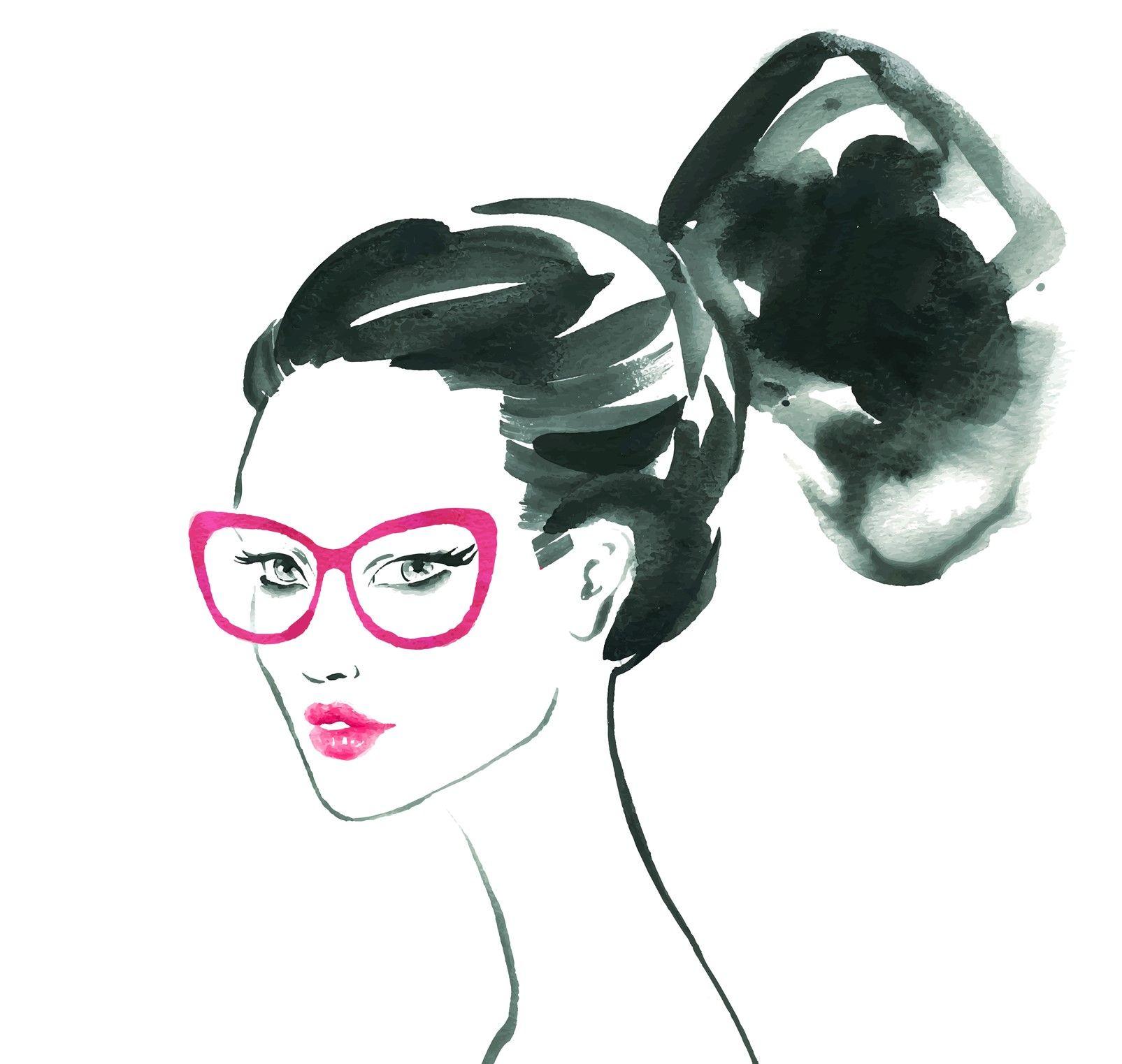 Dámské růžové brýle